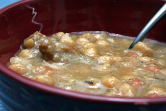 Chickpea Soup with Sausage