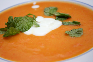 Silky Carrot and Ginger Soup