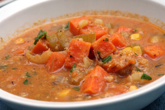 ... Sandwiches and Roasted Sweet Potato Corn Chowder | Camille Cooks
