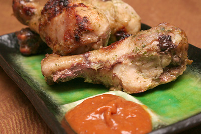 Thai-Style Chicken Legs and Roasted Green Beans with ...