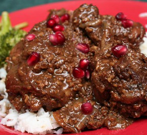 Persian Chicken in Pomegranate-Walnut Sauce