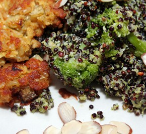 Faux Fish Cakes and Double Broccoli Quinoa