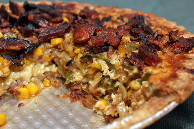 Corn and Bacon Pie | Camille Cooks