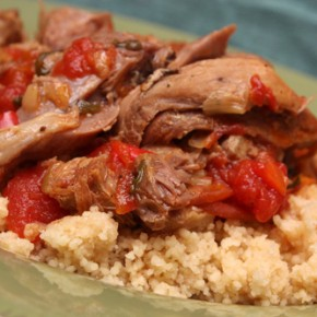 Mediterranean Braised Lamb and Couscous and Escarole Gratin