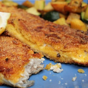 Cornmeal-Crusted Trout and Zucchini with Potatoes and Thyme
