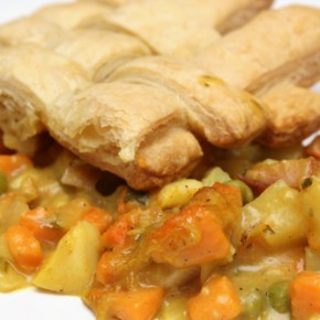 Chicken Pot Pie Casserole with Sweet Potato and Apple