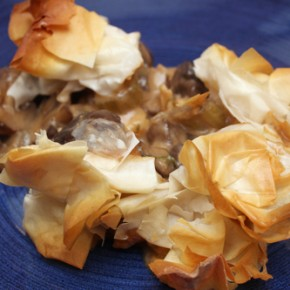Fish and Mushroom Casserole with Crispy Phyllo