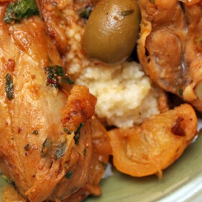 Chicken Tagine with Apricots, Figs, and Olives