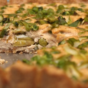 Asparagus and Peas Quiche