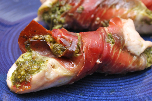 Prosciutto-Wrapped Chicken with Sage Pesto