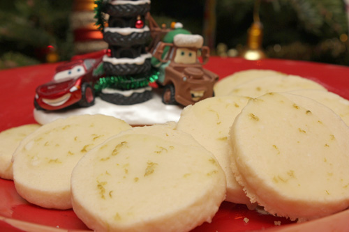 Key Lime Meltaway Shortbread