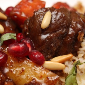 Turkish Pomegranate-Glazed Lamb Chops and Carrots