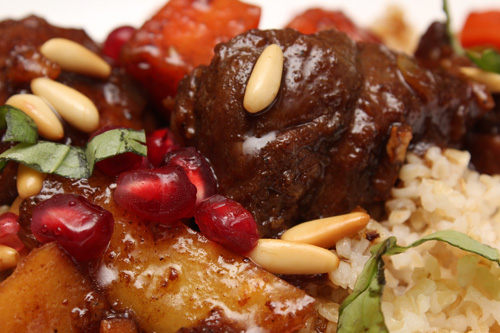 Turkish Pomegranate-Glazed Lamb Chops & Carrots