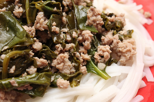 Asian Ground Pork & Spinach