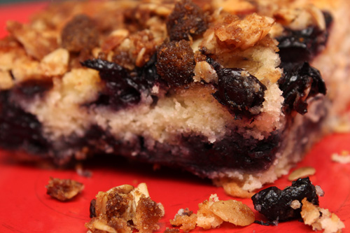 Blueberry Coffeecake with Almond Streusel