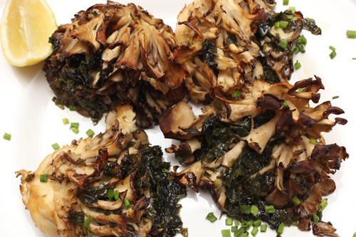 Roasted Maitake Mushrooms w/Seaweed Butter