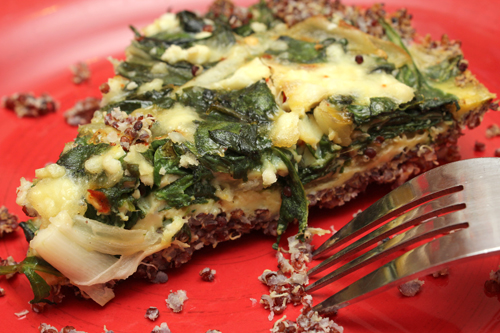 Spinach & Feta Quiche with Quinoa Crust
