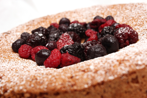 Almond Cake w/Mixed Berries