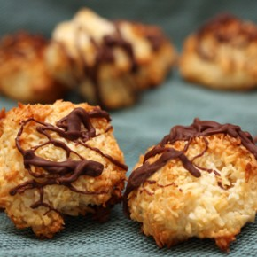 Cherry-White Chocolate Oatmeal Cookies; Coconut Macaroons