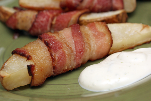 Bacon-Wrapped Taters