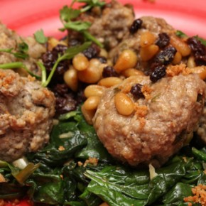 Sweet-and-Sour Meatballs with Pine Nuts and Currants