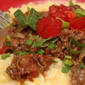 Cowboy-Style Beef and Vegetable Ragout; Cauliflower Polenta