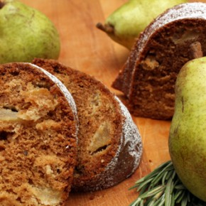 Pear Honey Rosemary Bundt Cake