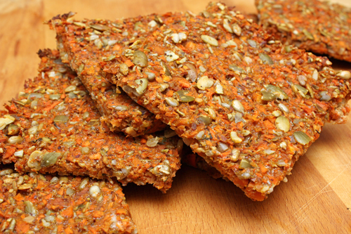 Nutty Carrot Flatbread