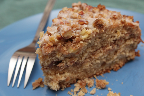 Browned Butter Hummingbird Coffee Cake slice