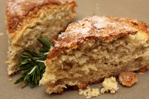 Rosemary Parmesan Soda Bread