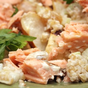 Roasted Salmon with Celery and Bulgur Salad