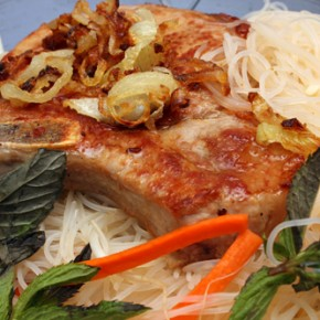 Vietnamese Noodle Salad with Seared Pork Chops