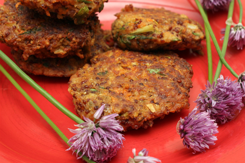 Fresh Herb and Roasted Garlic Quinoa Burgers