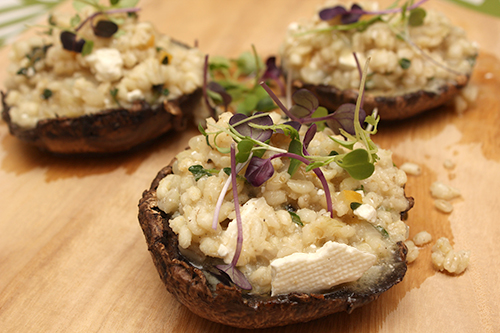 Portobello Mushrooms w/Pearl Barley & Preserved Lemon