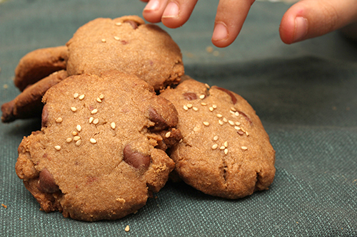 Tahini and Milk Chocolate Chip Cookies