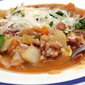 Red Wine Risotto with Beans