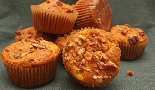 Cream Cheese Pumpkin Pecan Muffins