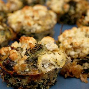Bulgur and Greens Mini Quiches