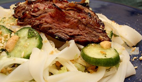 Weeknight Steak and Rice Noodle Salad