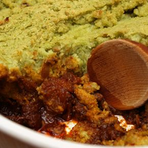 "Spiced ""Shepherd's Pie"" with Lima Bean Crust"