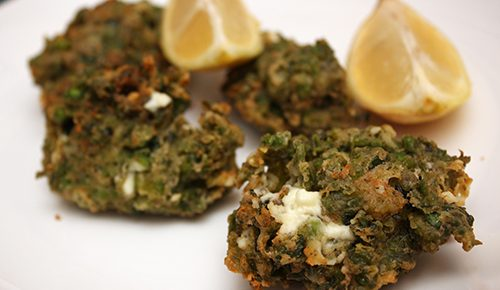 Pea, Za'atar, and Feta Fritters