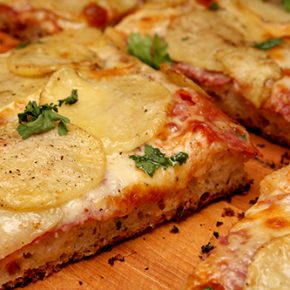 Pizza al Taglio with Potatoes and Soppressata