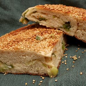 Chinese Sesame-Scallion Bread