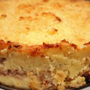 Sausage and Provolone Potato Pie