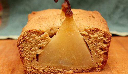 Hidden Pear Cake #TheCakeSliceBakers