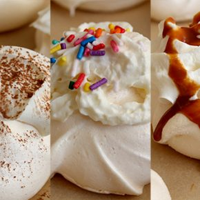 Mini Pavlovas with Whipped Cream