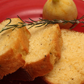 Lemon-Rosemary Yogurt Loaf #TheCakeSliceBakers