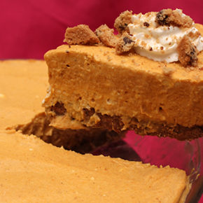Pumpkin Icebox Pie with Cookie Crumb Crust