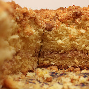 Sour Cream Coffee Cake with Coconut Streusel #TheCakeSliceBakers