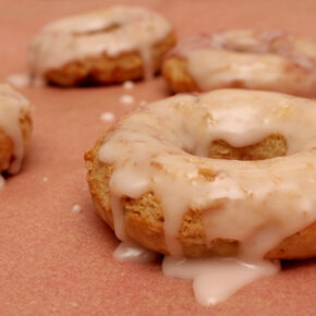 Soft Baked Donuts with Strawberry Jam